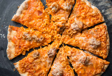 Spaghettios Pizza — Thrillist Recipes