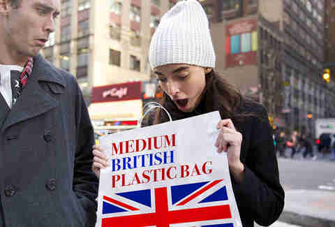 This plastic bag is British