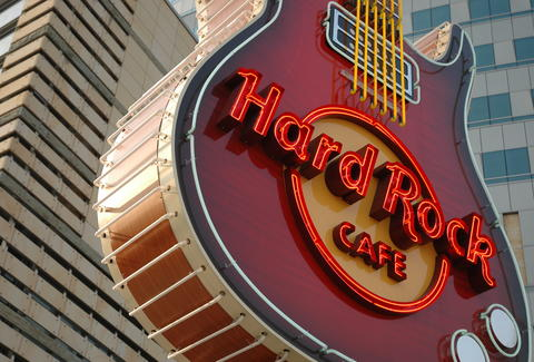 Hard Rock Cafe sign
