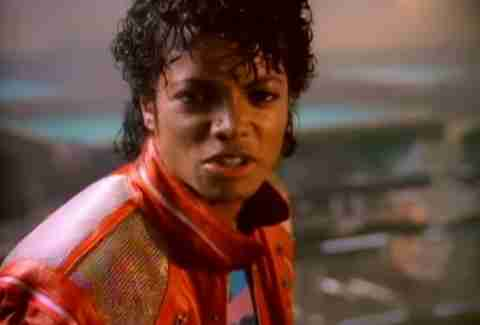 "Michael Jackson in ""Beat It"""