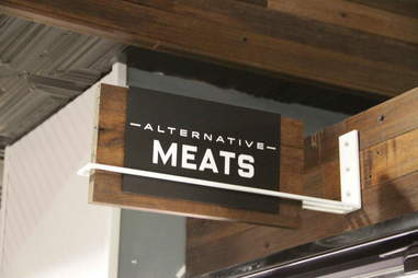 alternative meats sign
