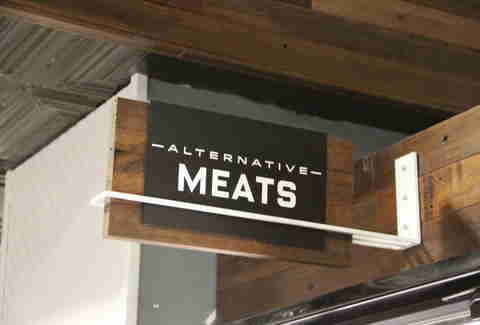 alternative meats sign