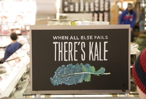 whole foods kale sign