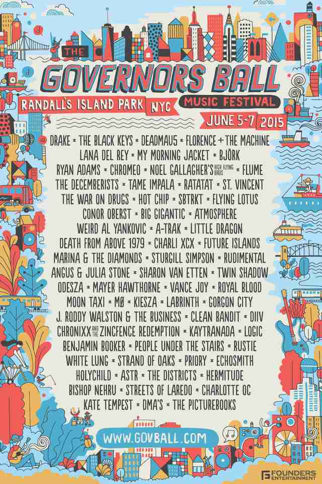 Governor's Ball Lineup