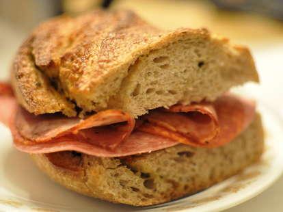 homemade sub sandwich