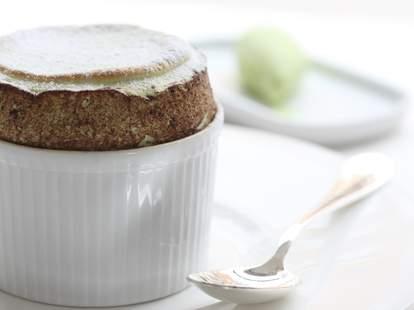 pistachio soufflé at Koffmann's