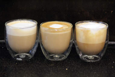 Starbucks Flat White, latte, cappuccino