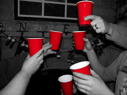 solo cups full of beer