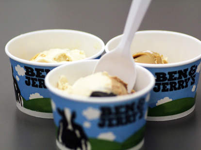 Ben & Jerry's new Cores samples