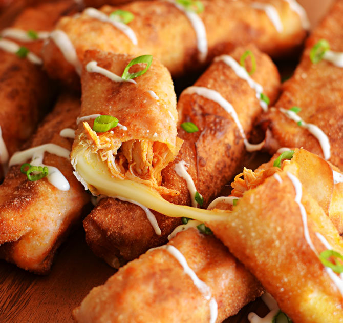 These Buffalo Chicken Mozzarella Logs Are the Best of Both Worlds