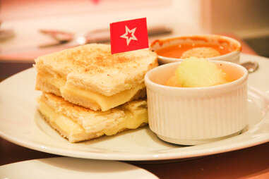 grilled cheese at American Girl Bistro