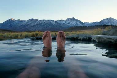 pool mountains feet