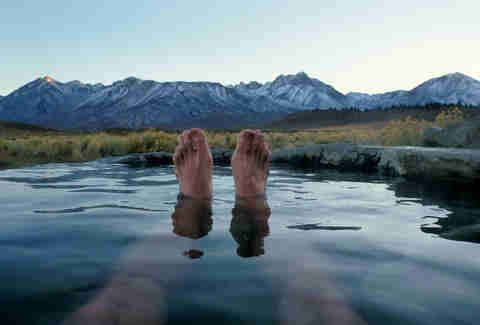pool mountains feet