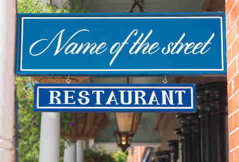 restaurant sign stereotype
