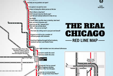Subway Map Chicao.The Real Red Line Map Chicago Cta Thrillist