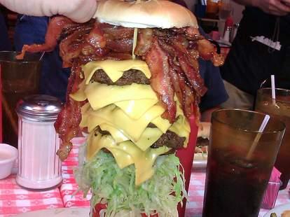 the mega mel burger