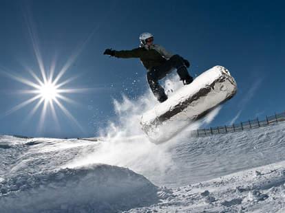 snowboard on a burrito