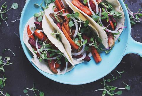 root vegetable fajitas