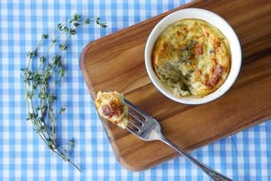 Sunchoke and thyme souffle