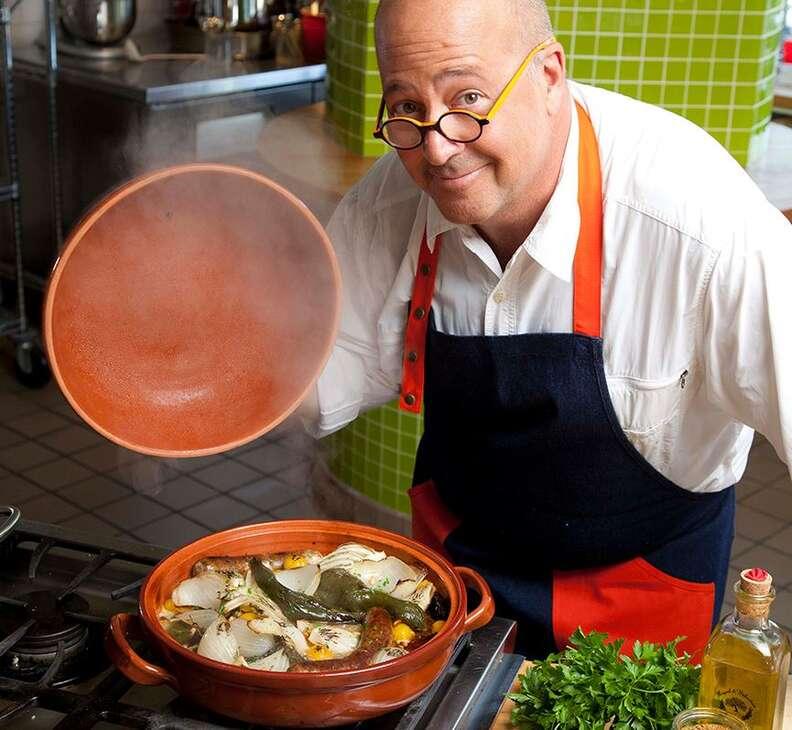 Andrew Zimmern cooking