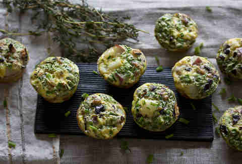 Mini quiches with sunchokes