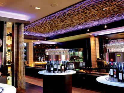 interior of hostile grape las vegas wine bar