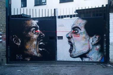 graffiti of angry men
