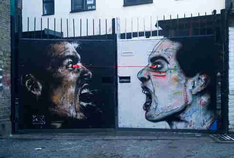 graffiti of angry men