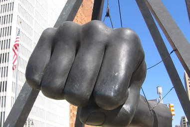 fist sculpture