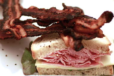 bacon and sandwich