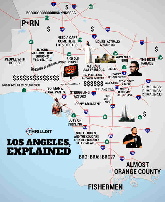 Judgmental Map Of LA - Thrillist