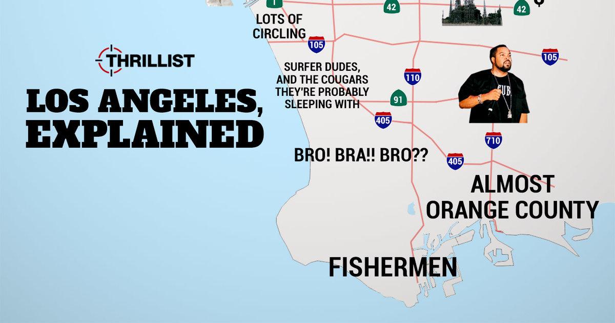 Judgmental Map Of LA - Thrillist