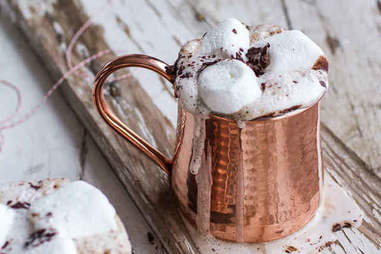 Spiced mocha hot chocolate