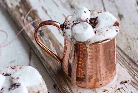 Spiced mocha hot chocolate