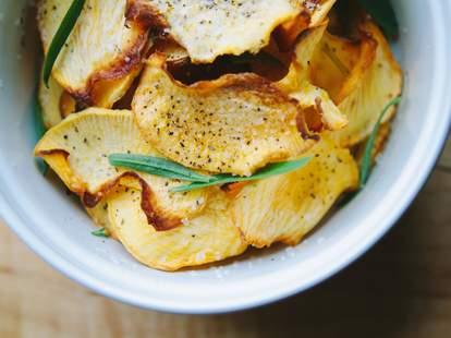 rutabaga chips