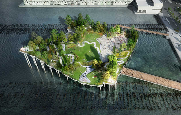 Futuristic Island Park On Hudson River Takes Big Step Forward