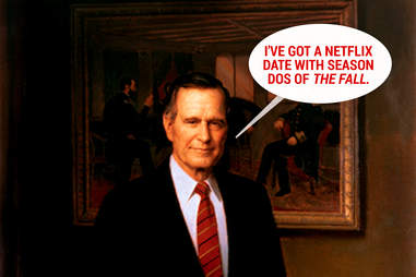 George H.W. Bush not partying