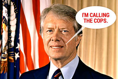 Jimmy Carter not partying