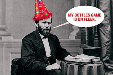 Ulysses S. Grant in party hat