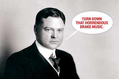 Herbert Hoover not partying