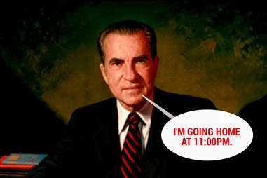 Richard Nixon not partying