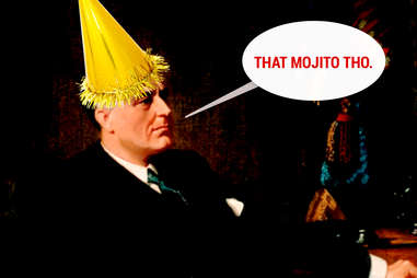 FDR in party hat