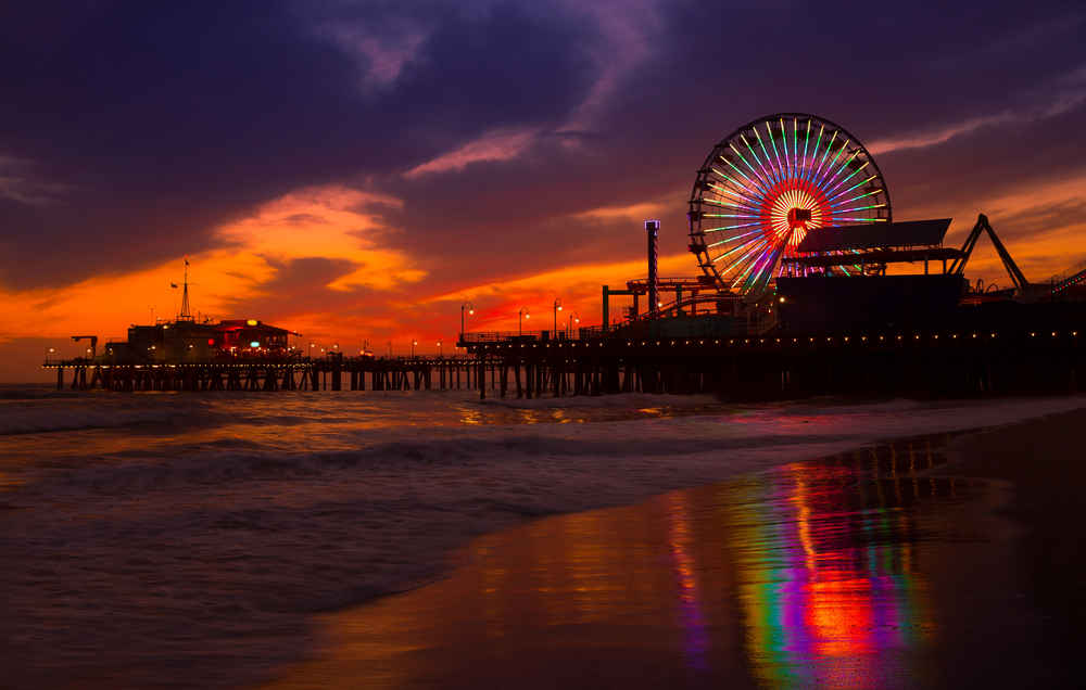 Santa Monica Pier Sedona And Dauphin Island Have The Best Sunsets In America Photos Thrillist