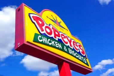 Popeyes Chicken & Biscuits sign