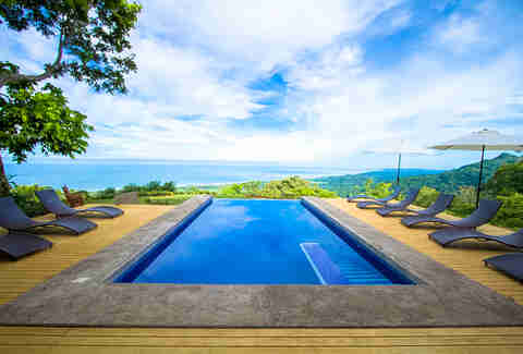 pool at Kalon Surf in Costa Rica