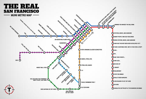 SF Muni Metro Map - Thrillist