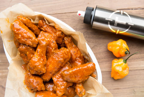 Pepper Spray Hot Wings — Thrillist Recipes