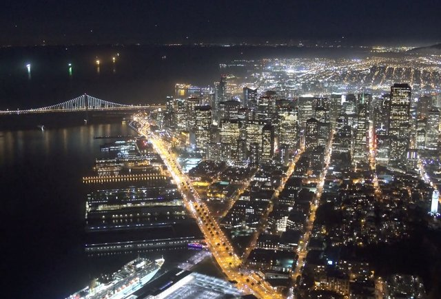 Helicopter Video Of San Francisco At Night