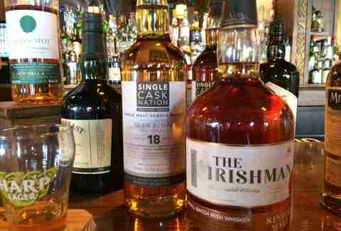 whiskeys at Star & Shamrock