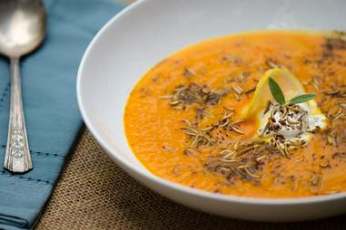 Carrot buffalo worm soup